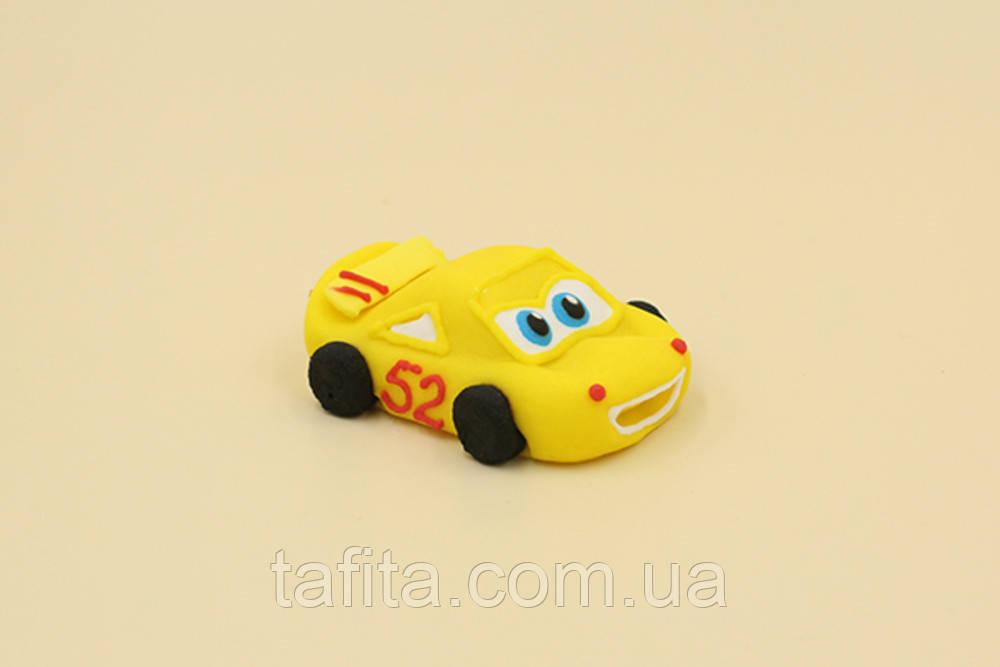 Машинка из мастики Желтая
