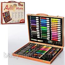 Набор для творчества в деревянном чемодане 2455-1