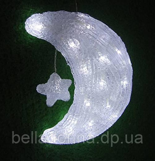 Фигура акриловая светодиодная LED луна OecoLux