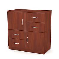 Комод-2+4в спальню на 4выдвижных ящикаи 2 двери, комоды для вещей из ДСП 84х45х85 см(Компанит), яблоня