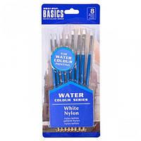 """Набор художественных кистей для красок на водной основе """"Basics"""" 8шт."""