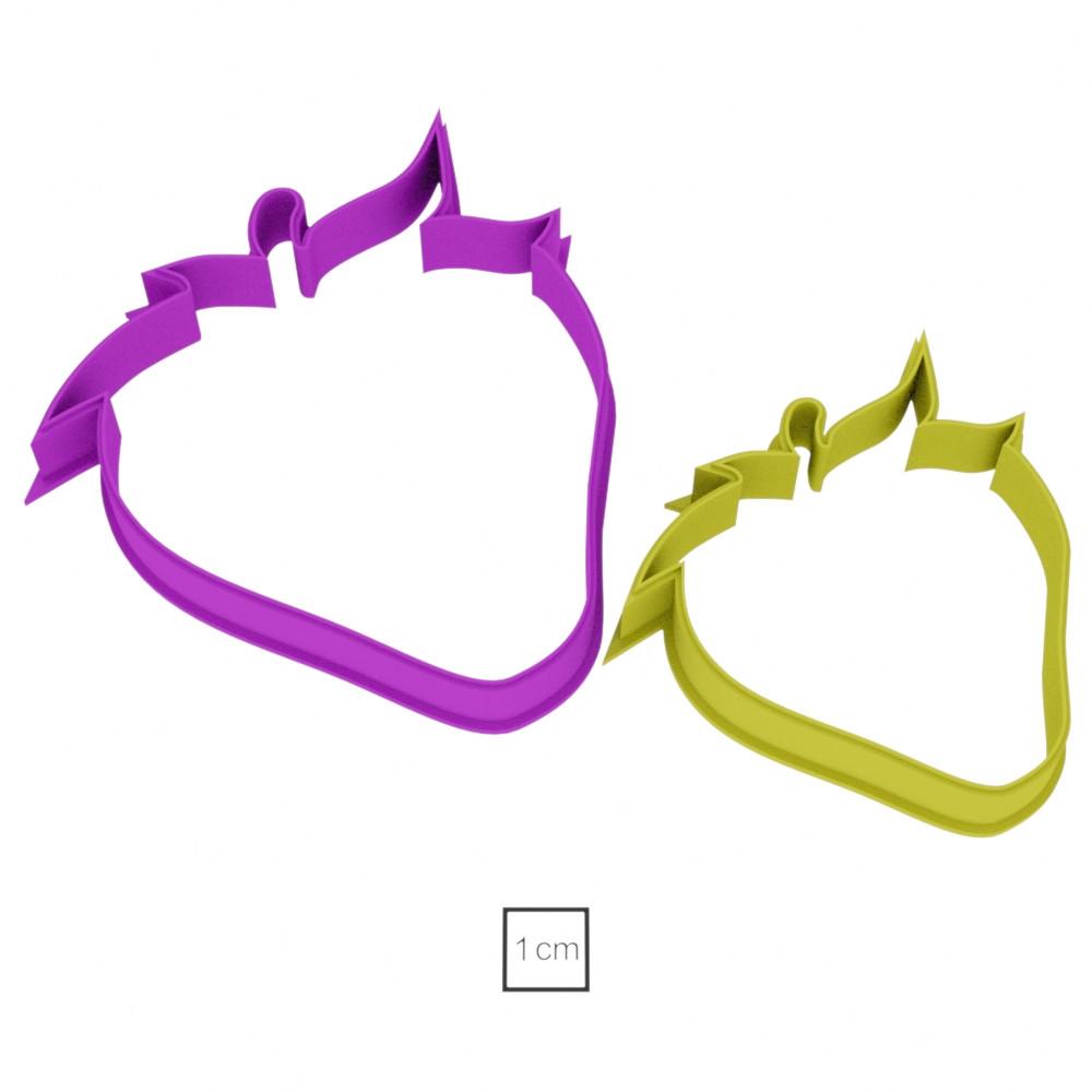 Висічка для пряників у вигляді полуничок