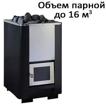 Печь банная,без выноса, стеклянная дверь, н/ж PК-16S (16кВт)