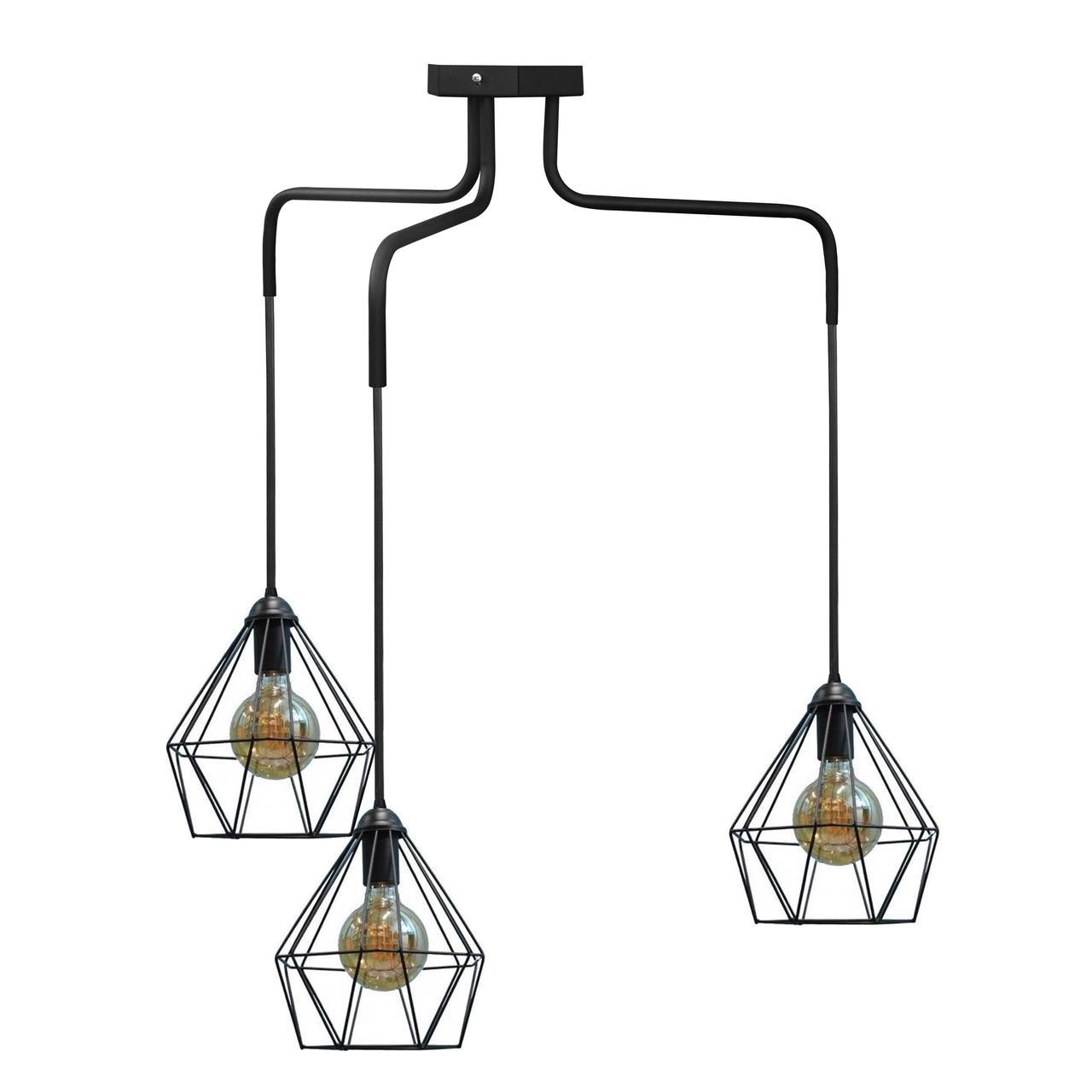 Люстра подвесная в стиле лофт на три плафона MSK Electric NL 10537-3