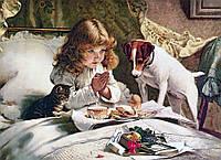 "Набір алмазної вишивки мозаїки ""Ранкова молитва"". Художник Charles Burton Barber"