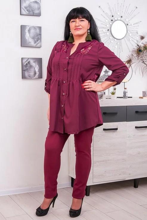 Красивая женская блузка большого размера Алика 54-72 р