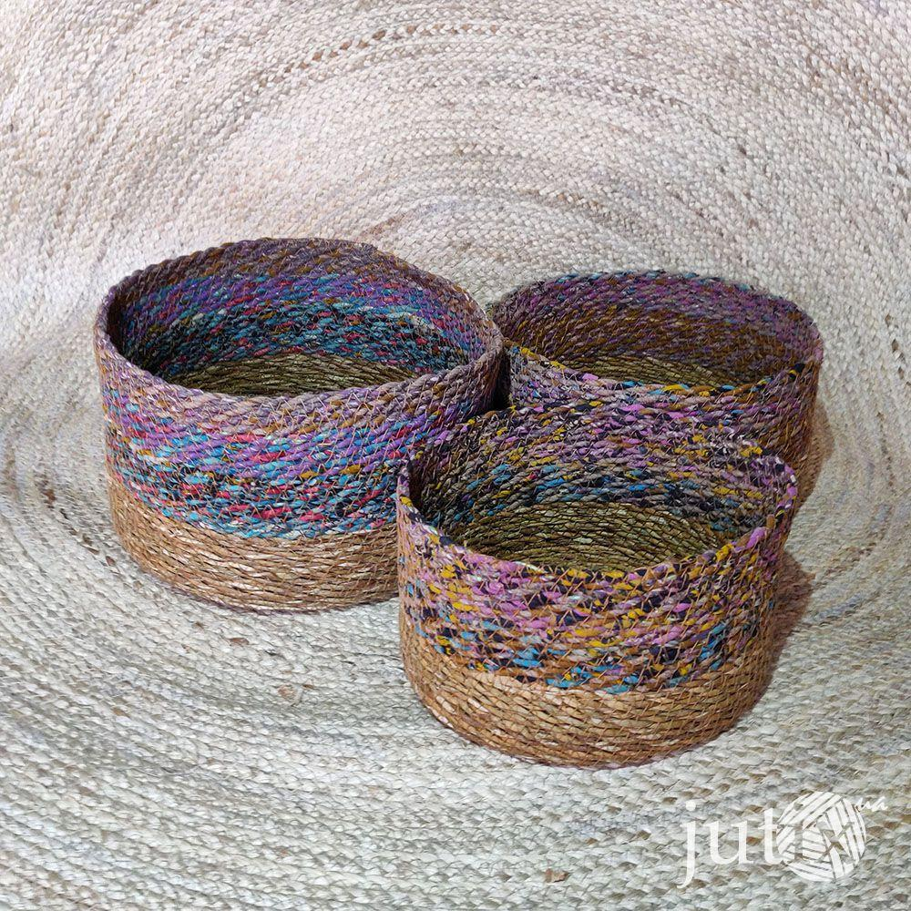 Корзина плетеная (хогла + хб)