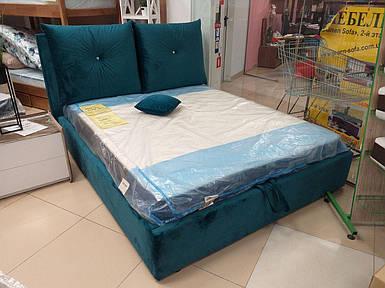 Кровать двуспальная Люкс МЕРИ 3 с подъемным механизмом и ящиком для белья, с подушками