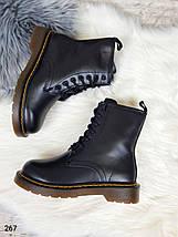 Теплые зимние женские ботинки на высокой подошве в стиле Dr.Martens LS-267, фото 2