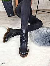 Теплые зимние женские ботинки на высокой подошве в стиле Dr.Martens LS-267, фото 3