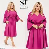 Стильное платье    (размеры 48-58) 0257-33, фото 3