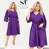 Стильное платье    (размеры 48-58) 0257-33, фото 2