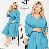 Стильное платье    (размеры 48-58) 0257-33, фото 4