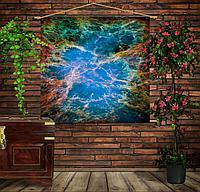 Мобильная картина-постер (гобелен) на ткани с 3D с принтом Крабовидная туманность