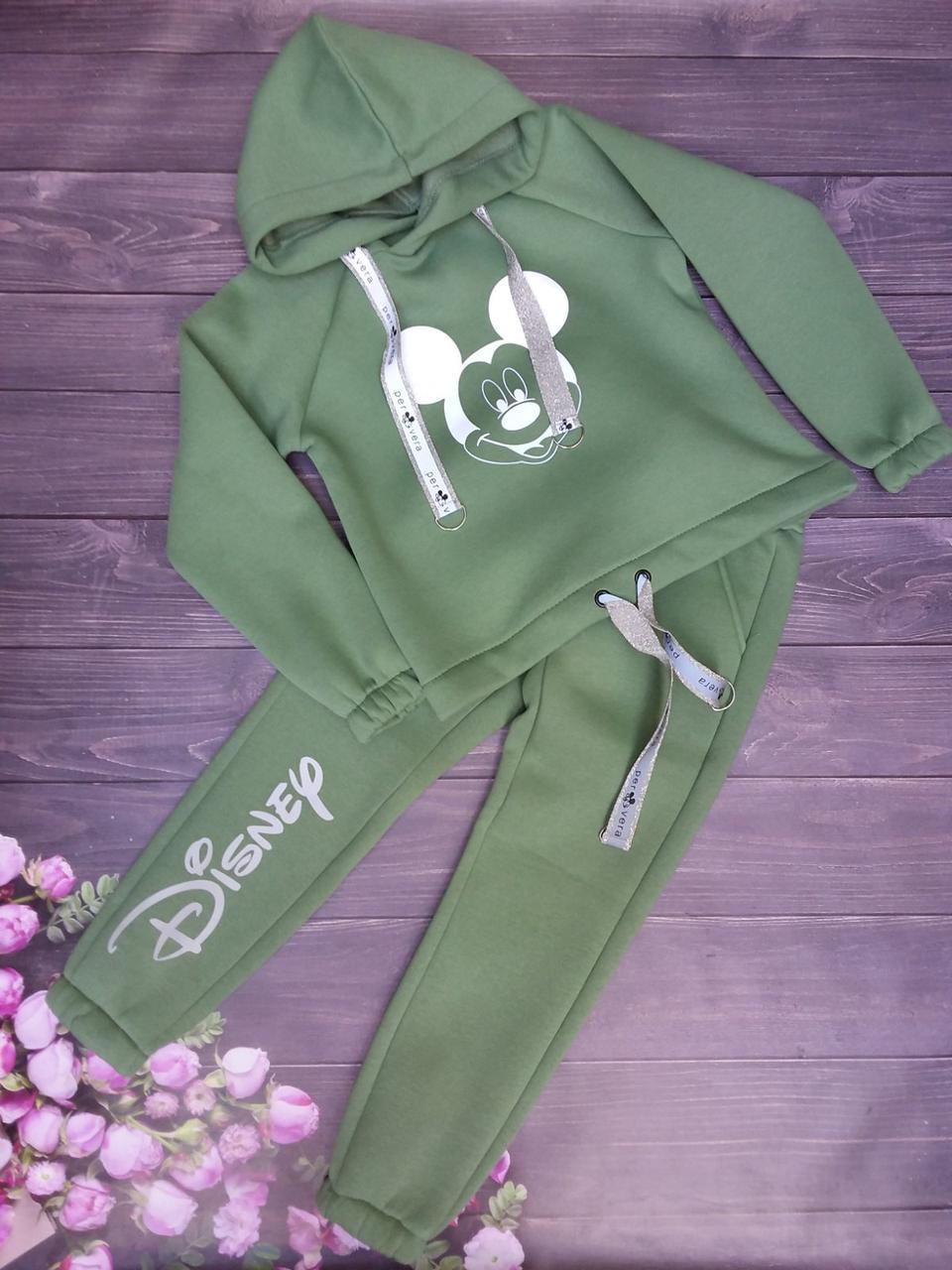"""Спортивный костюм детский """"Mickey"""" 128-152 см Зеленый Оптом"""