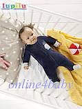 Велюровый человечек Lupilu для мальчика 1-2 мес., рост 56, фото 2