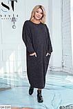 Стильное платье    (размеры 50-56) 0257-36, фото 4
