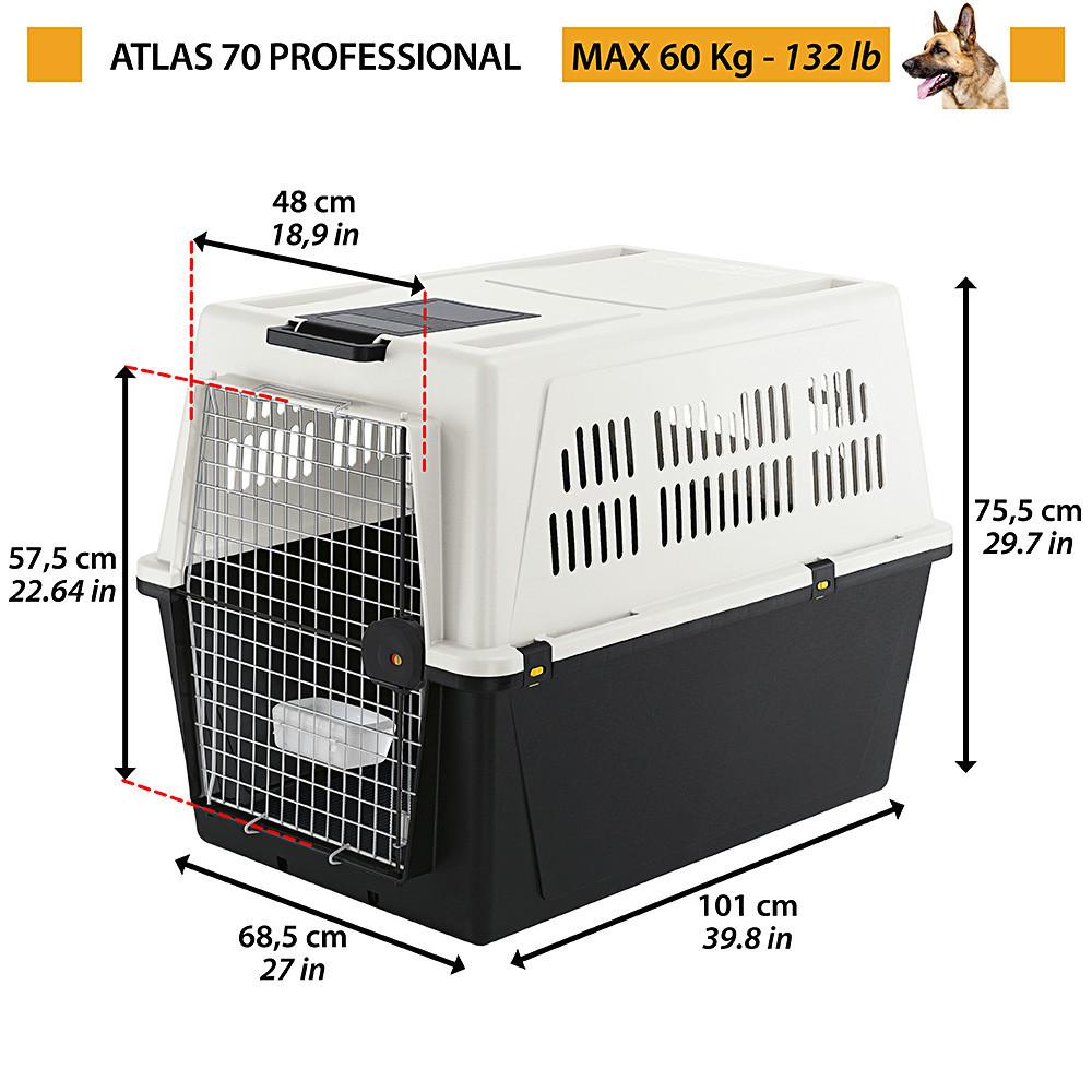 Контейнер-переноска для собак и кошек Ferplast Atlas Professional 70 , 101х68.5х75.5 см
