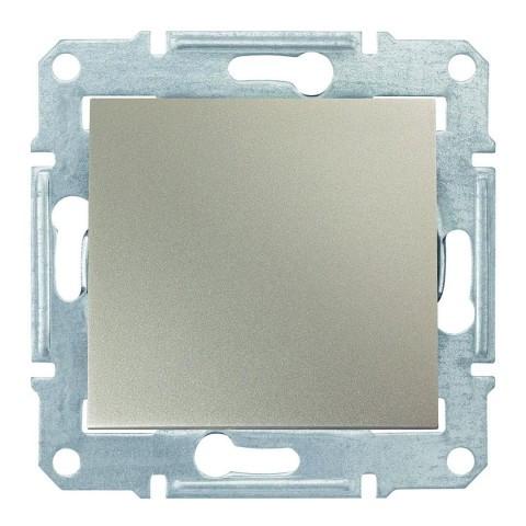 Выключатель одноклавишный титан Sedna SDN0100168