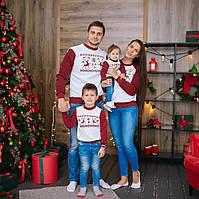 Колекція новорічних світшотів з оленями для пари, фото 1