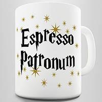 Белая кружка (чашка) с принтом Espresso Patronum Novelty Mug