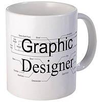 """Белая кружка (чашка) с принтом """"Graphic Designer"""""""
