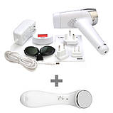 Епілятор IPL фотоепілятор домашній Lescolton T009 + масажер для обличчя, фото 2