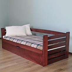 Ліжко дитяче дерев'яне з підйомним механізмом Карлсон (масив бука)