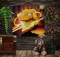 Мобильная картина-постер (гобелен) на ткани с 3D с принтом Покемон Псы Даг