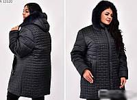 Зимова куртка з натуральної хутряною опушкою, з 58-74 розмір