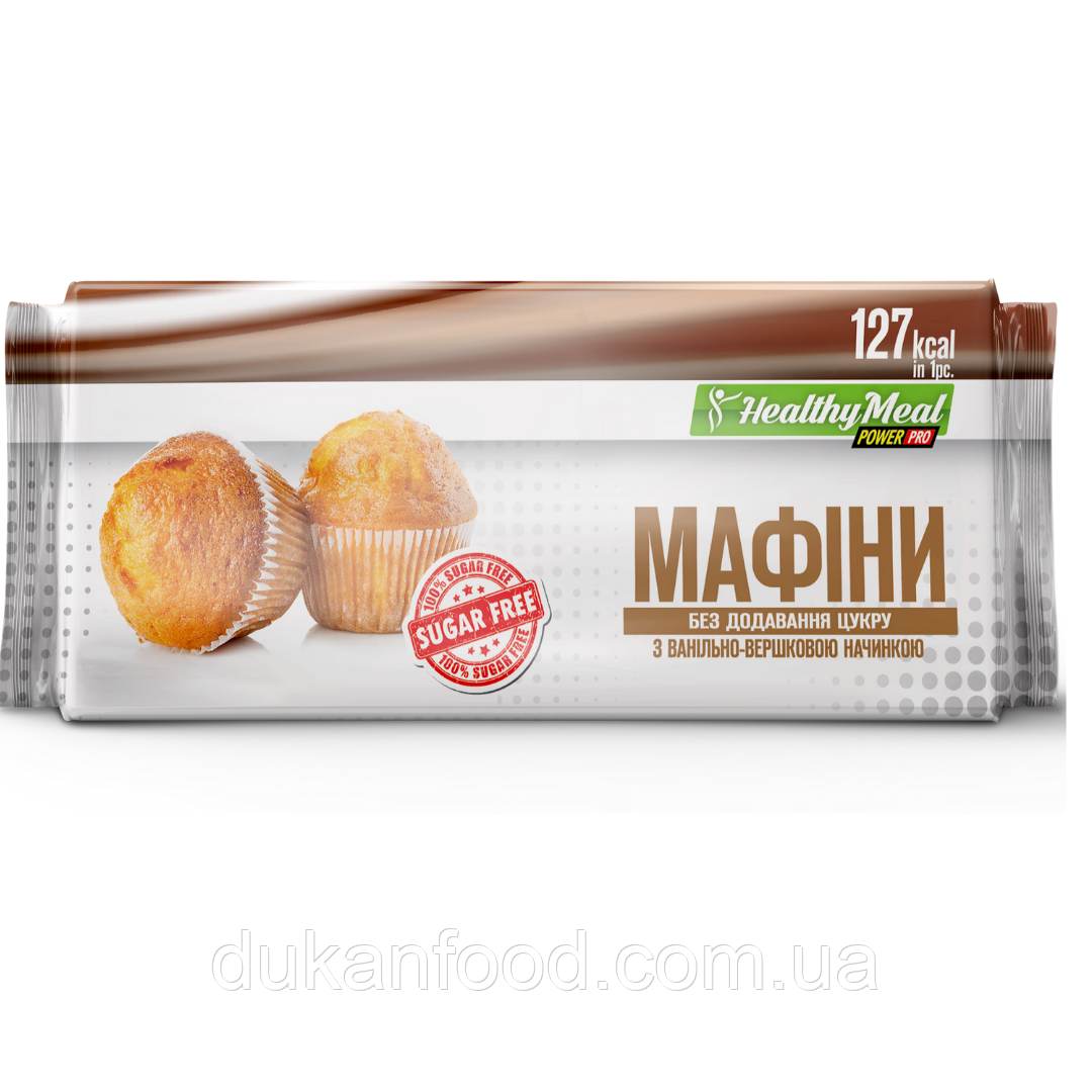 Power Pro Маффин с ванильно-сливочной начинкой (без сахара)