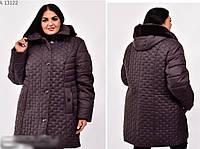 Зимова куртка з хутряною опушкою батал, з 58-74 розмір