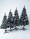Штучна ялинка Снігова Королева 2.5 м зелена. Ялина засніжена. Штучна ялинка з білими кінчиками, фото 3