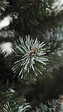 Штучна ялинка Снігова Королева 2.5 м зелена. Ялина засніжена. Штучна ялинка з білими кінчиками, фото 5