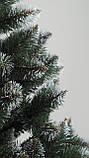 Штучна ялинка Снігова Королева 2.5 м зелена. Ялина засніжена. Штучна ялинка з білими кінчиками, фото 9