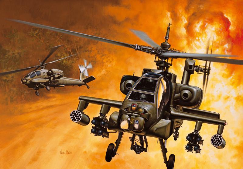AH-64A APACHE. 1/72 ITALERI 159