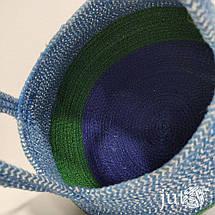 Сумка-корзина джутовая (ромб), фото 3
