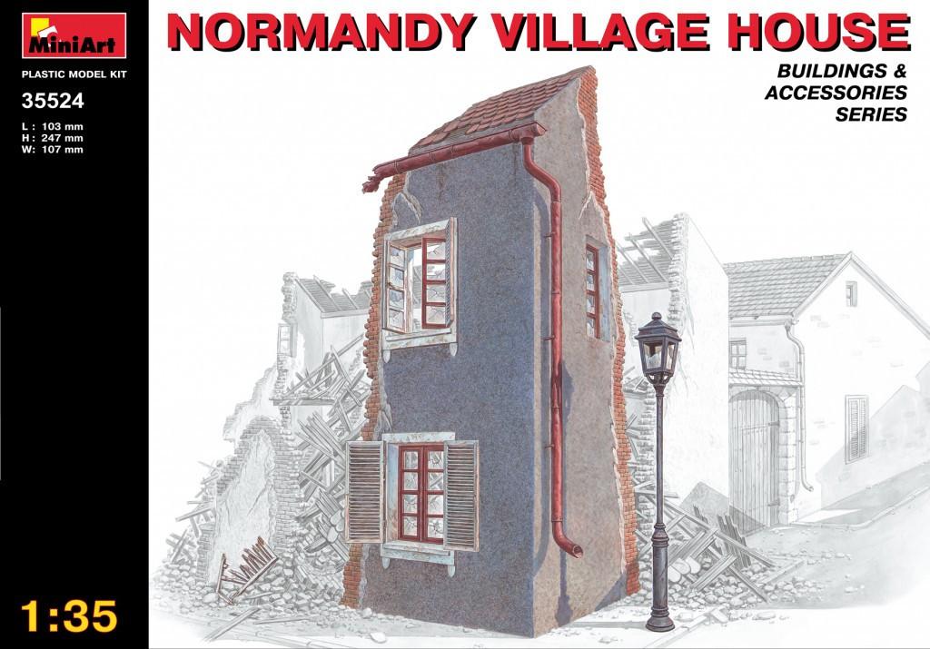 Нормандский деревенский дом. Сборная модель в масштабе 1/35. MINIART 35524