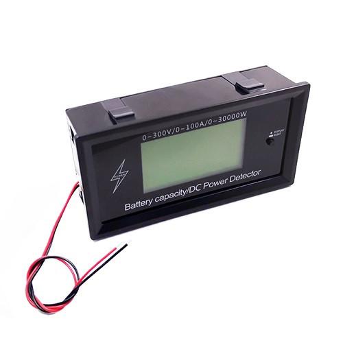 Цифровий энергометр з Bluetooth 300В 100А DC, ватметр, амперметр, вольтметр