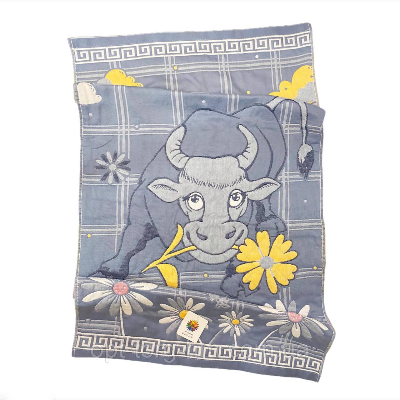 Полотенца льняные корова 140*70 см