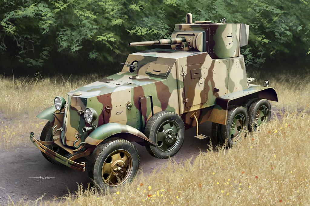БА-6 радянський бронеавтомобіль. Збірна модель в масштабі 1/35. HOBBY BOSS 83839