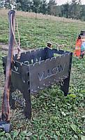Розкладний універсальний мангал 3 мм на 10 шампурів, фото 1