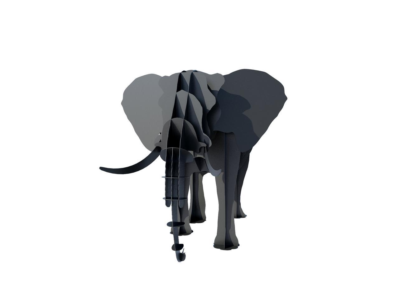 Мангал розбірний Слон 3D, мангал для будинку й саду декоративний