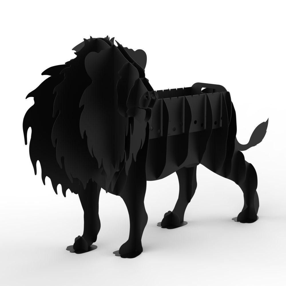 Мангал подарочный Лев 3D, мангалы звери для дома