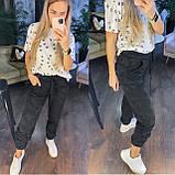 Женские спортивные брюки плотный трикотаж на меху, водонепроницаемая, р.42-44,44-46 Код 208Р, фото 2