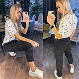 Женские спортивные брюки плотный трикотаж на меху, водонепроницаемая, р.42-44,44-46 Код 208Р, фото 3