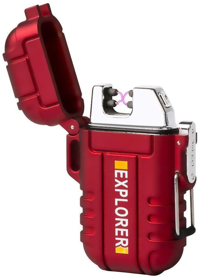 Электроимпульсная зажигалка Fren Explorer USB с двойной дугой в подаро