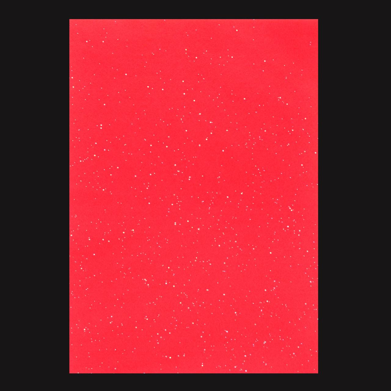 Набор Фетр Santi мягкий с глит., красный, 21*30см (10л)