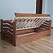Кровать детская деревянная с подъемным механизмом Микки Маус (массив бука), фото 4