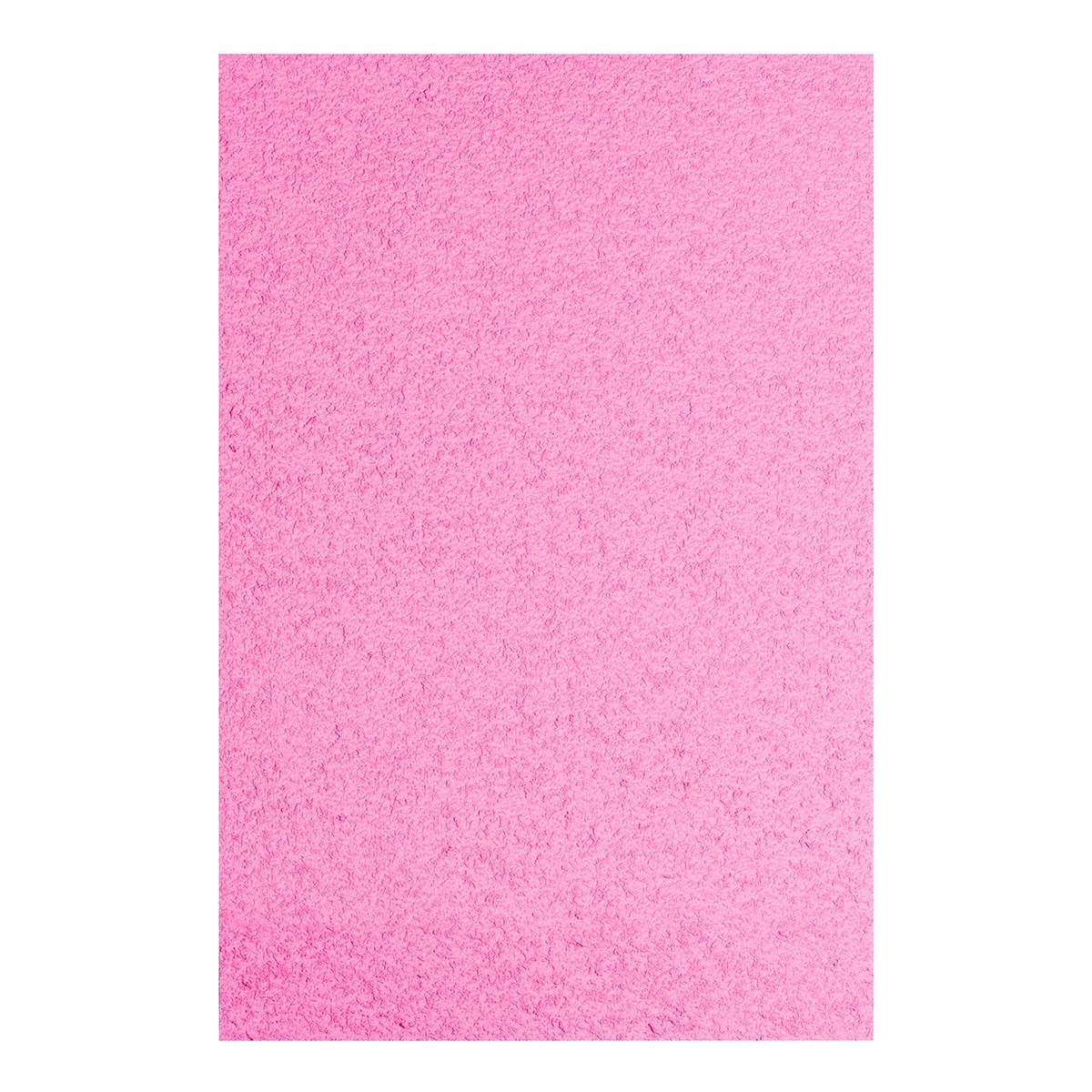 Фоамиран ЭВА розовый махровый, 200*300 мм, толщина 2 мм, 10 листов